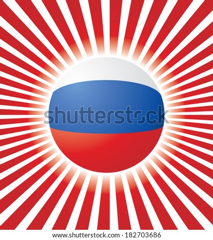 Abstract vector background with Russian flag. - stock vector