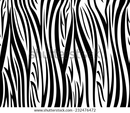Abstract vector background with seamless zebra pattern