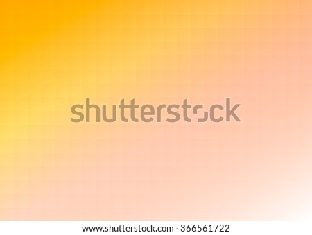 Abstract vector background with square yellow orange pattern - stock vector