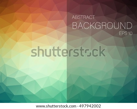 Abstract vector background with triangles.