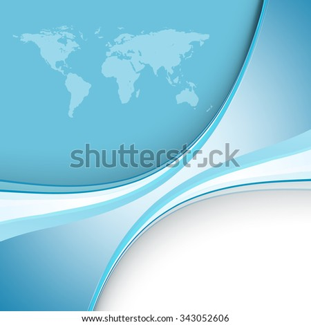 abstract vector background with world map and copy space. Eps10