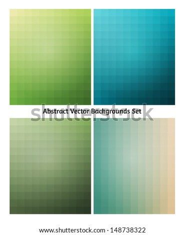 Abstract vector backgrounds collection. Flowing blend colors. Retro tints. - stock vector