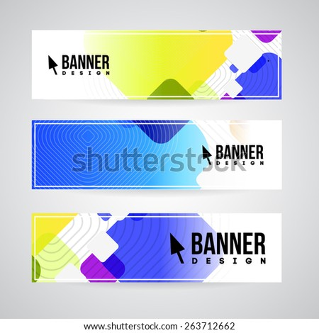 Abstract vector banner design template for web or print. - stock vector