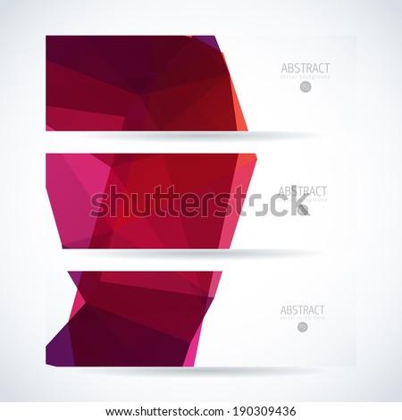 Abstract vector  banner set - stock vector