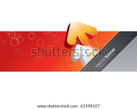 abstract vector banner with arrows