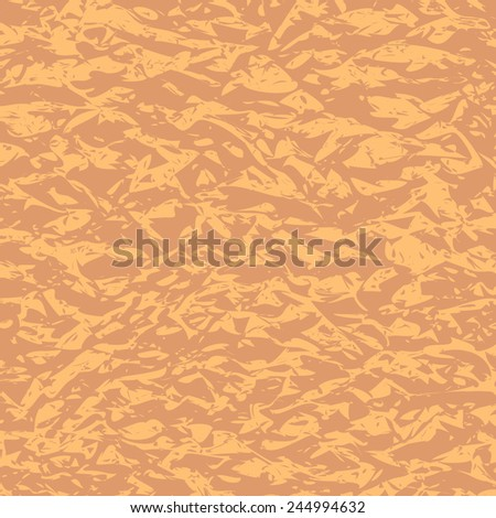 Abstract vector banner with place for text message. Simple grunge crumpled paper design. Backdrop with wrinkled paper and empty space. Design of original greeting card or ad banner. EPS10 vector. - stock vector