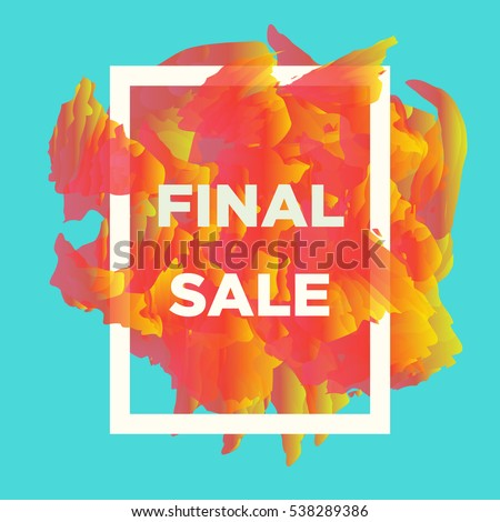 Abstract vector banners for retail stores and internet promotion with the colorful frame and final sale text. Final sale web banners.