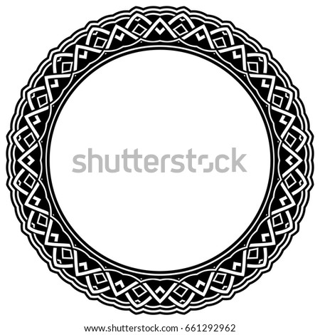 Abstract Vector Black White Illustration Round Stock Photo Photo