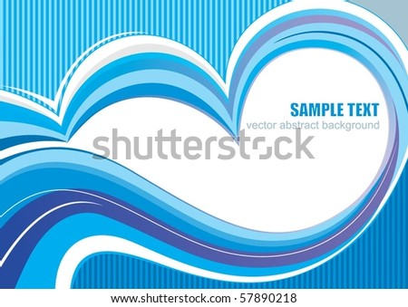 Abstract vector blue lines - stock vector