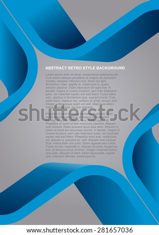 Abstract vector blue retro style background for poster, flyer or brochure - stock vector