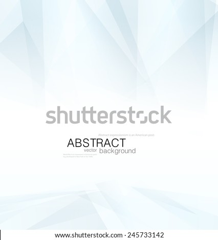 Abstract vector blue shapes with gradient on a white background - stock vector