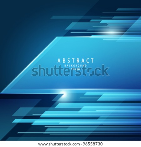 Abstract vector blue transparency background illustration - stock vector