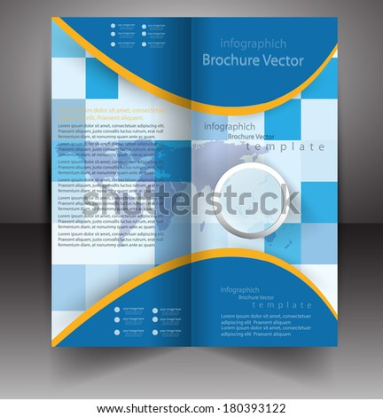 abstract vector Brochure background template