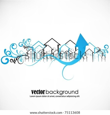 abstract vector buildings - stock vector