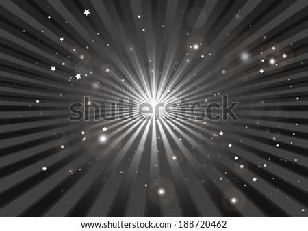Abstract vector burst background illustration - Circular burst  in space illustration template - stock vector