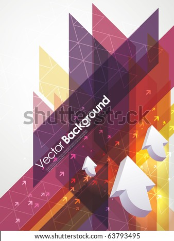 abstract vector business background with arrows - stock vector