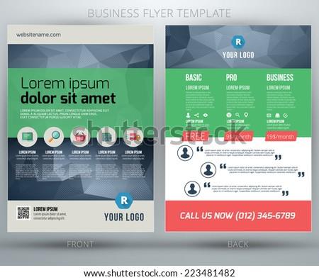 Abstract vector business flyer brochure template. EPS10 - stock vector