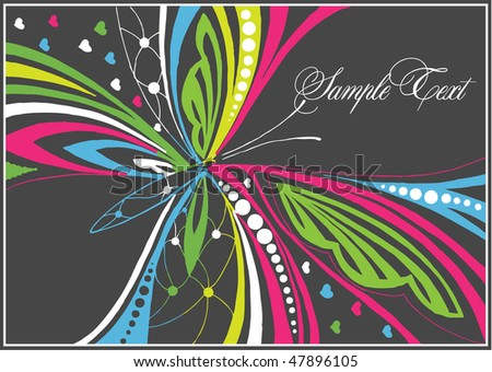 abstract vector  butterfly - stock vector