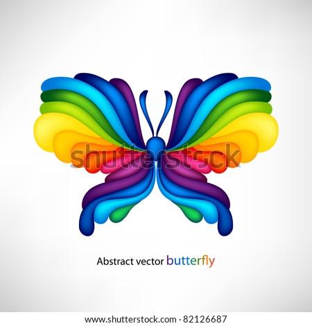 Rainbow butterfly logo - photo#28
