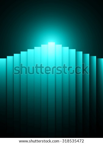 abstract vector candle illustration - stock vector