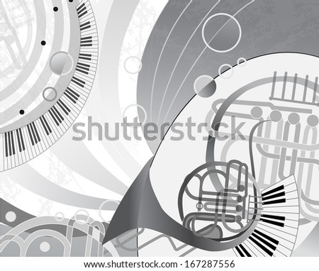 Abstract vector cartoon design. Series of image