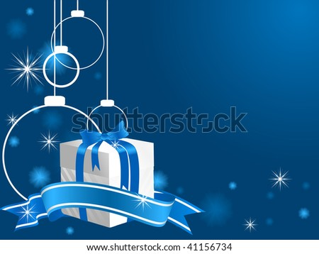 abstract vector Christmas background in blue color