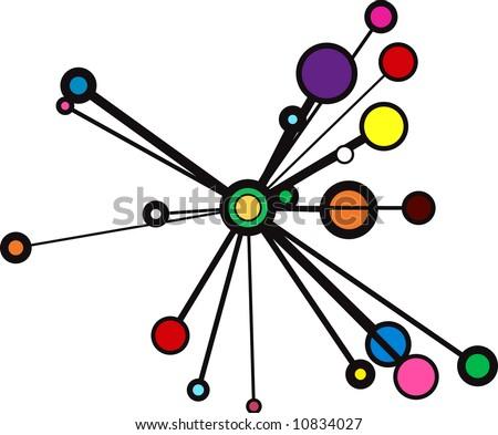 abstract vector circle sunburst - stock vector