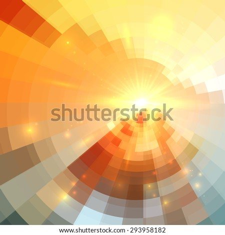 Abstract vector circle technology background - stock vector