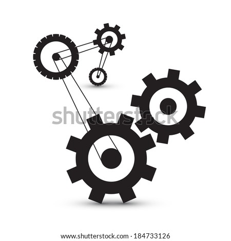 Abstract Vector Cogs - Gears - stock vector