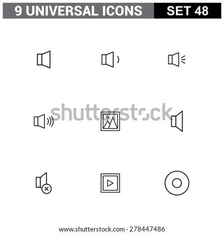 Abstract vector collection of colorful flat Universal Icon set. Big package of modern minimalist, thin line icons. Design elements for mobile and web applications.