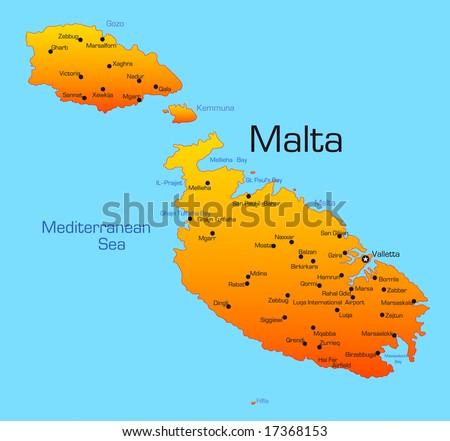 Malta Map Stock Images RoyaltyFree Images Vectors Shutterstock - Malta map