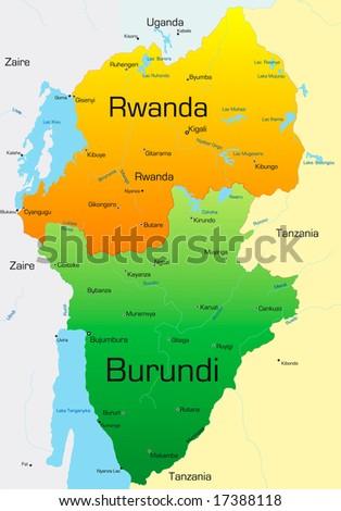 Abstract vector color map rwanda burundi vectores en stock 17388118 abstract vector color map of rwanda and burundi country gumiabroncs Image collections
