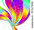 abstract vector color wave explosion - stock vector