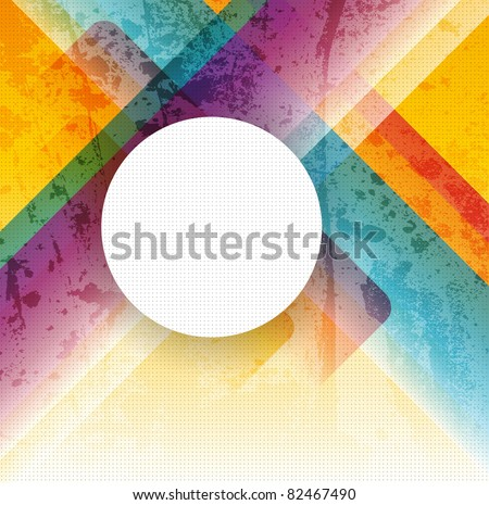 Abstract vector colorful  background - stock vector