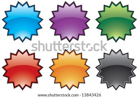 Abstract vector colorful burst icons - stock vector