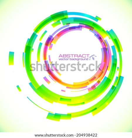 Abstract vector colorful circles frame - stock vector