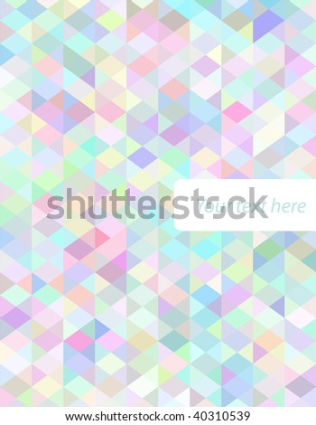 Abstract vector colorful cover - stock vector