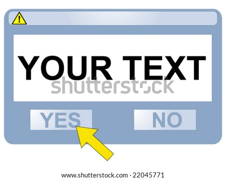 abstract vector computer window with cursor and blank space for your text - choice concept - stock vector