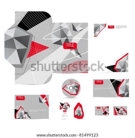 Abstract vector corporative style - stock vector