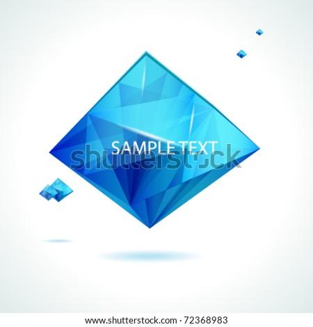 Abstract vector crystal design. - stock vector