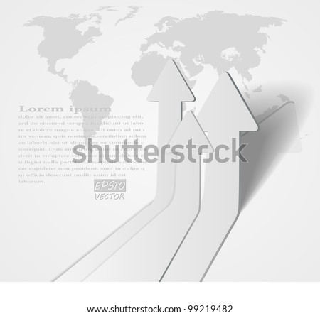 abstract vector 3D arrows background - eps10 illustration - stock vector