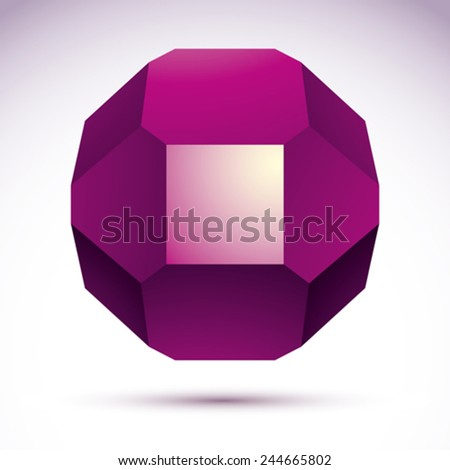 Abstract vector 3D geometric object, clear eps 8. - stock vector