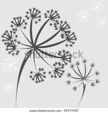 abstract vector dandelion - stock vector