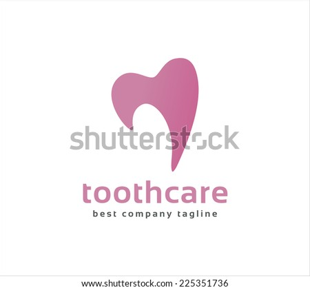 Abstract vector dental tooth logo icon concept. Logotype template for branding and corporate design - stock vector