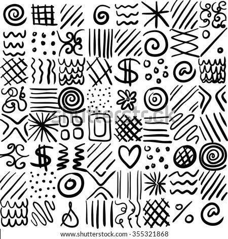 Abstract Vector Design Can Be Repeated Pattern Placed On Any Color