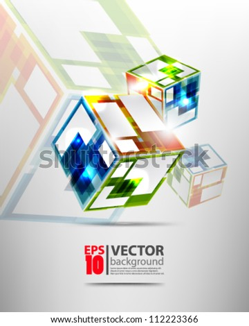 abstract vector design eps10 - stock vector