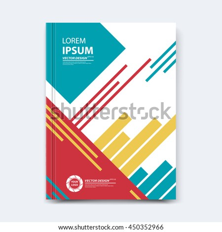 Vector Presentation Template Annual Report Cover Stock Vector