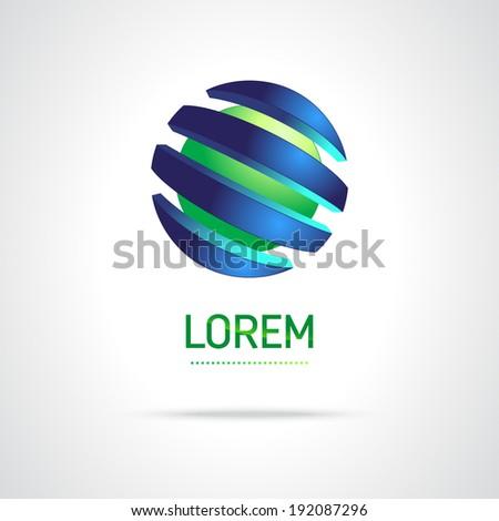 Abstract Vector Design Template. Creative Round Concept Icon - stock vector