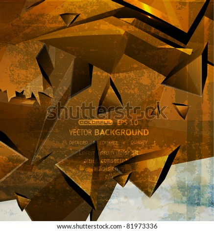 Abstract Vector Digital Art - stock vector