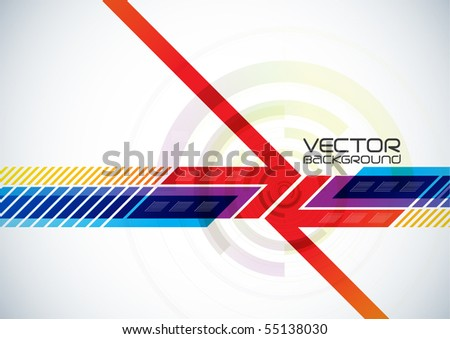 Abstract vector digital background. - stock vector